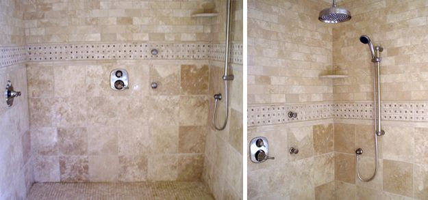 large shower with great tiles