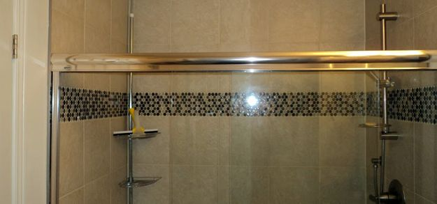 Tile in shower stall