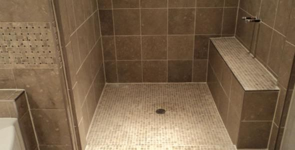 Ecru shower tile