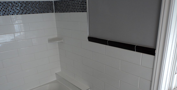 White and black wall tile