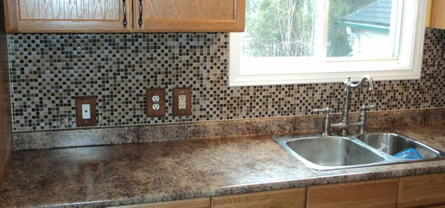 kitchen tile sink