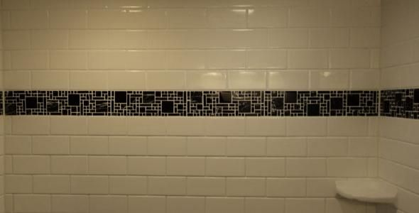 Tile border in shower