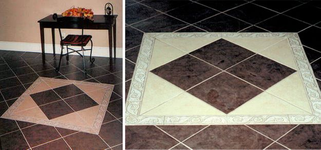 well done inlay tile in foyer