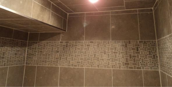Upper shower tile